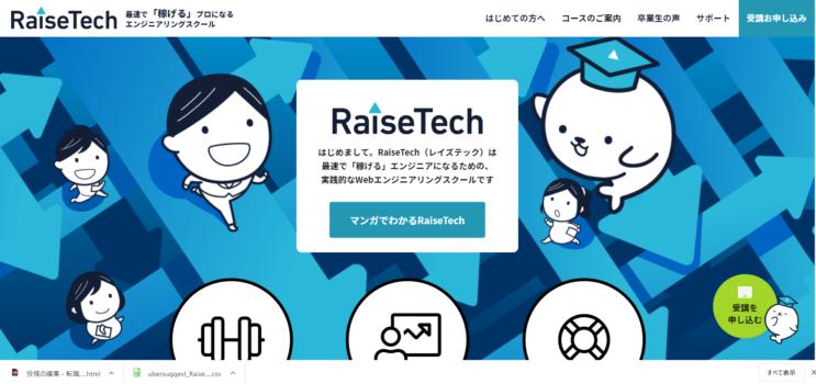 【第3位】Raisetech(レイズテック)